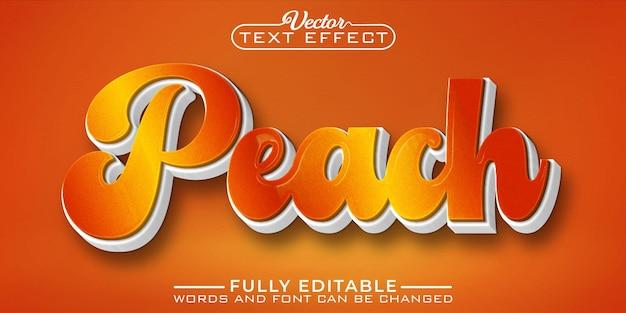 Szablon edytowalnego efektu tekstowego pomarańczowej brzoskwini