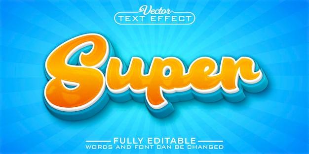 Szablon edytowalnego efektu tekstowego super cartoon