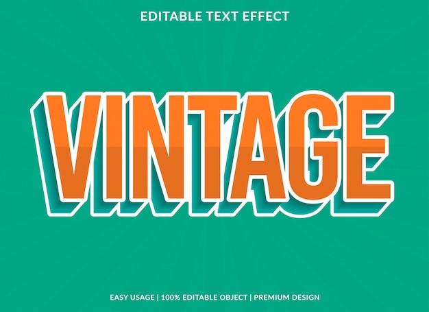 Szablon efekt starodawny tekst z stylu retro typu 3d i pogrubiony tekst