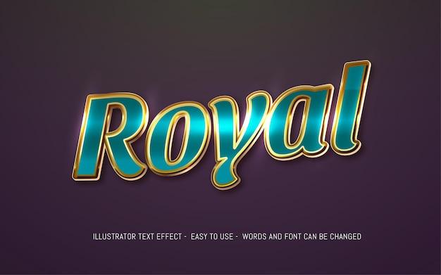 Szablon efektu edytowalnego stylu królewskiego tekstu 3d