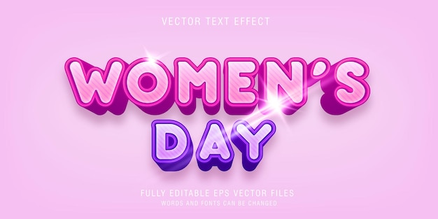 Szablon efektu stylu tekstu na dzień kobiet