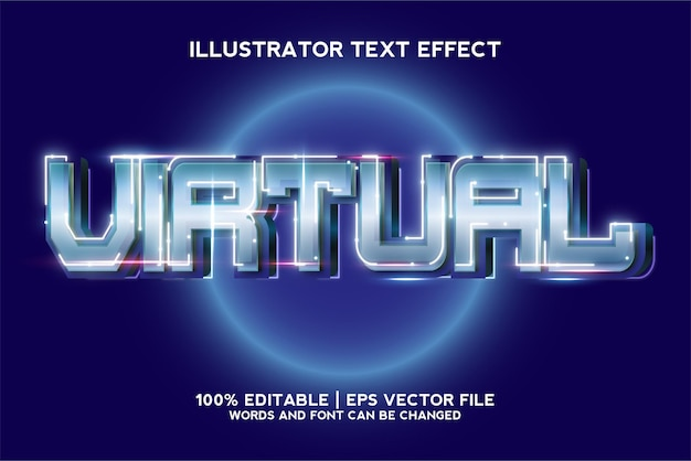 Szablon efektu tekstowego gry wirtualnej