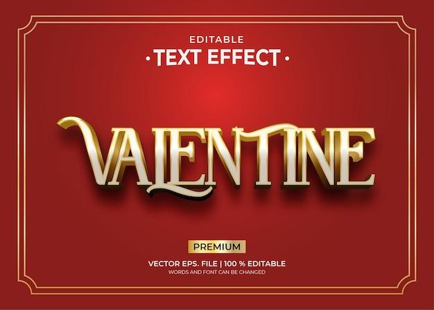 Szablon efektu tekstowego royal valentine