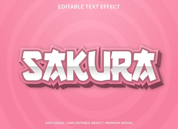 Szablon efektu tekstowego sakury z odważnym użyciem stylu