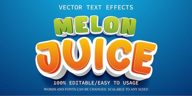 Szablon efektu tekstowego soku z melona