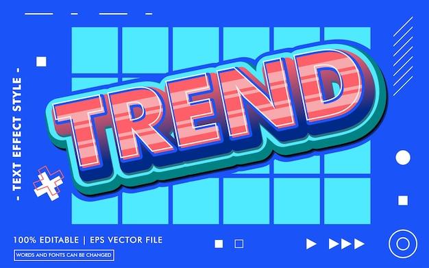 Szablon efektu tekstowego trendu