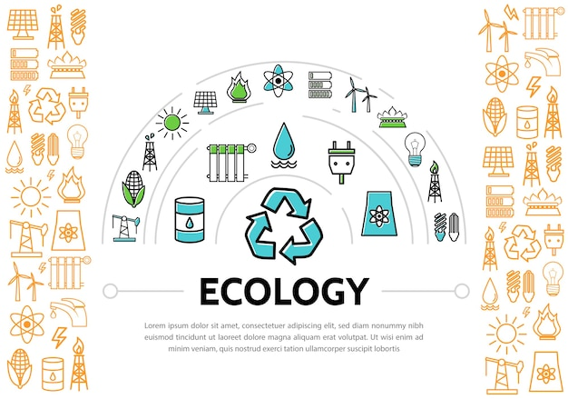 Szablon ekologii i energii