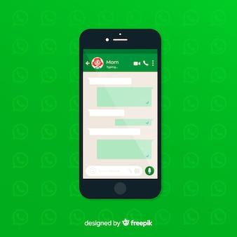 Szablon ekranu whatsapp