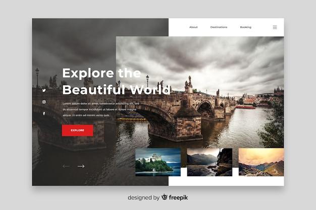 Szablon eksploruj światową stronę docelową