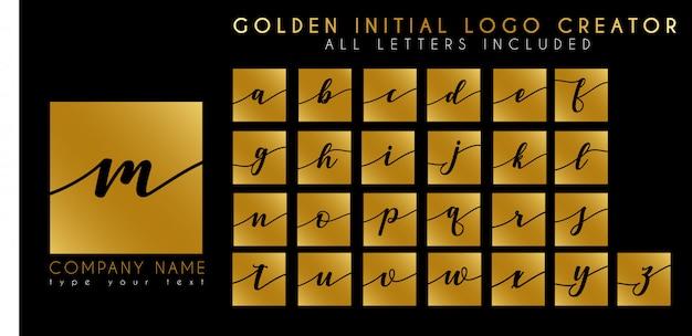 Szablon elegancki luksusowy początkowy list logo