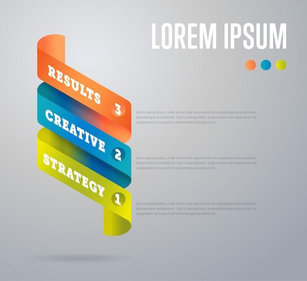 Szablon elementów infografiki