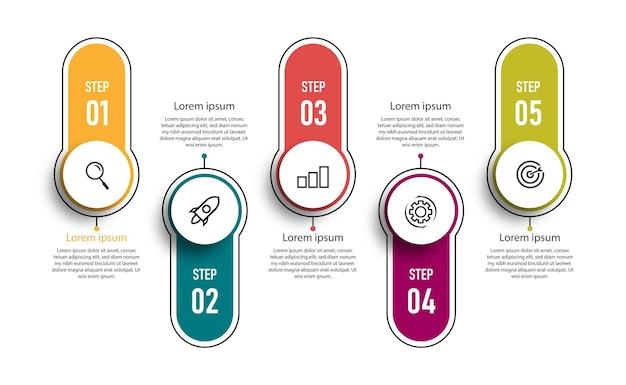 Szablon elementu infografikę wykresu osi czasu.
