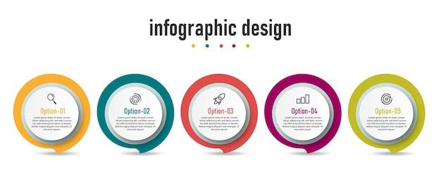 Szablon elementu infografiki krok.