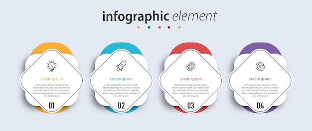 Szablon elementu infografiki prezentacji biznesowych