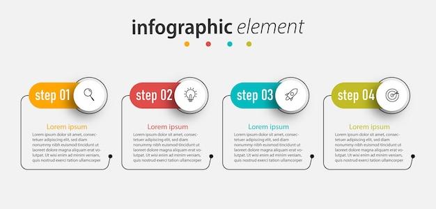 Szablon elementu infografiki.