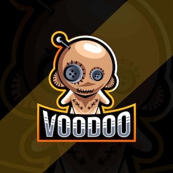Szablon esport logo maskotki voodoo