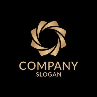 Szablon estetyczny złotego logo firmy, profesjonalny wektor projektowania marki