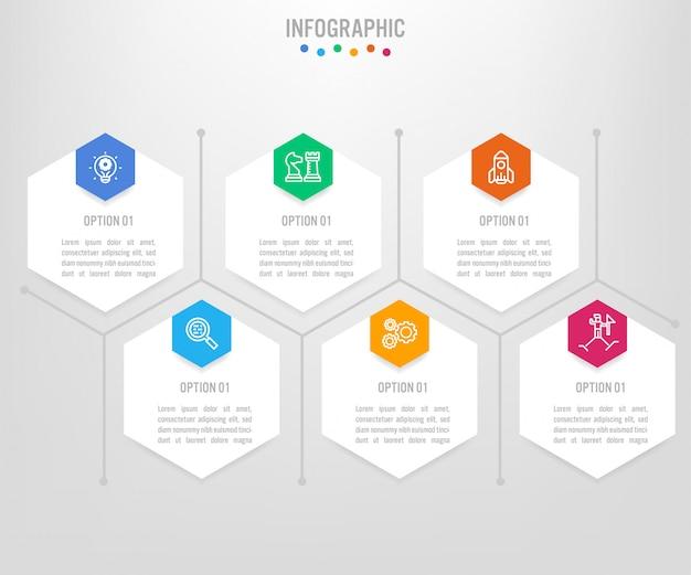 Szablon etykiety biznesu infographic z opcjami