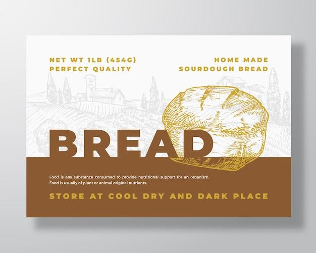 Szablon etykiety chleba na zakwasie
