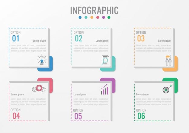 Szablon etykiety infographic biznesu