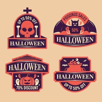 Szablon etykiety sprzedaży halloween