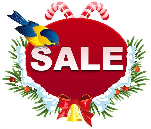 Szablon etykiety świątecznej sprzedaży