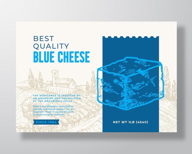 Szablon etykiety żywności mlecznej streszczenie wektor projekt opakowania układ nowoczesny typografia baner z ręką...