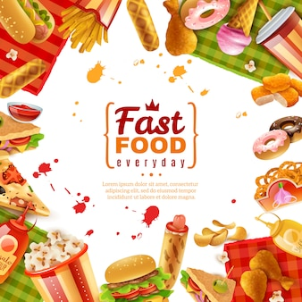 Szablon fast food
