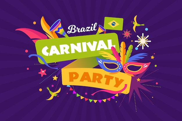 Szablon festiwalu karnawał w brazylii
