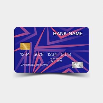 Szablon fioletowy karty kredytowej