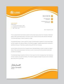 Szablon firmowego papieru firmowego lub szablon projektu firmowego papieru firmowego premium