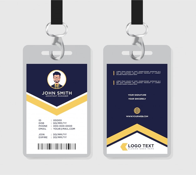 Szablon firmowej karty identyfikacyjnej