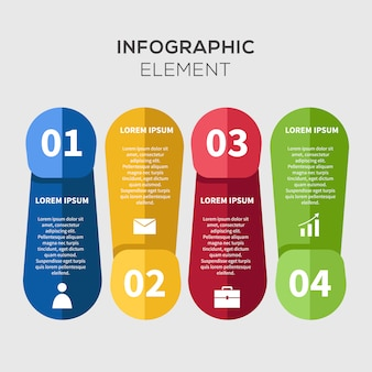 Szablon firmy creative infographic business