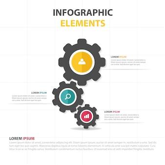 Szablon firmy infographic z wyposażeniem