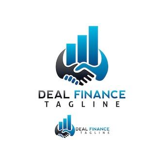 Szablon firmy logo transakcji statystycznej