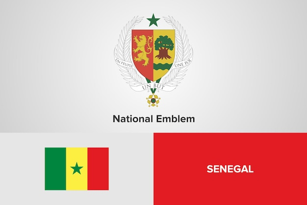Szablon flaga senegalu godło narodowe