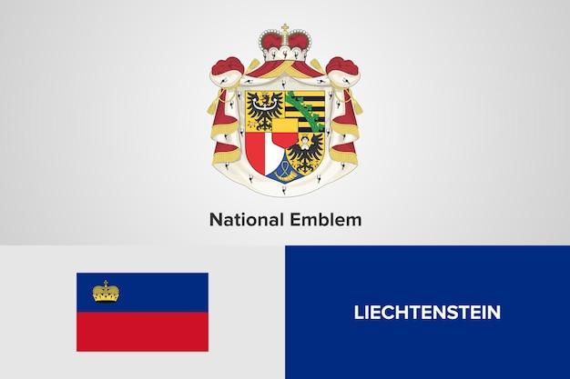 Szablon flagi godło liechtensteinu