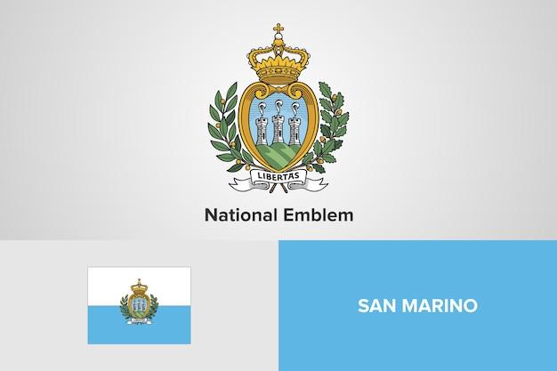 Szablon flagi z godłem narodowym san marino