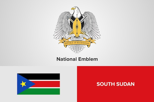 Szablon flagi z godłem sudanu południowego