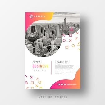 Szablon flyer firmy streszczenie z gradientu kształtów