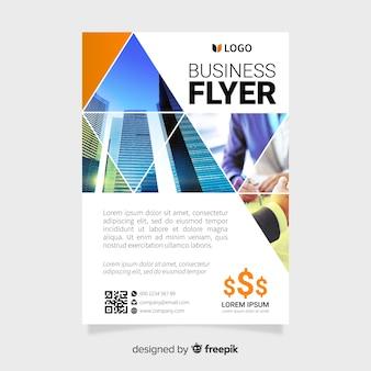 Szablon flyer firmy z obrazami mozaiki