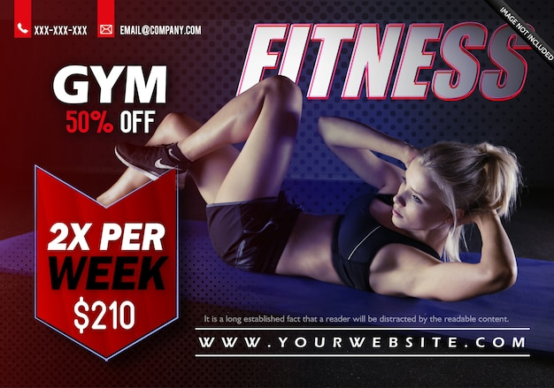 Szablon flyer fitness gym