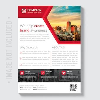 Szablon flyer kreatywnych korporacyjnych