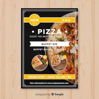 Szablon flyer nowoczesnej pizzy restauracji