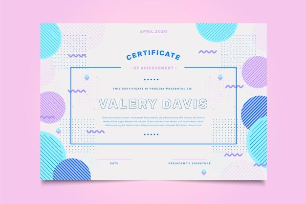 Szablon geometryczny streszczenie certyfikatu