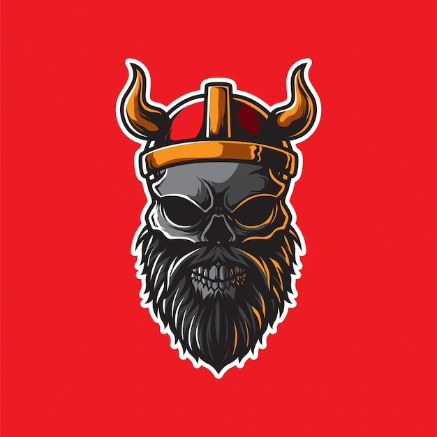 Szablon głowy wikingów