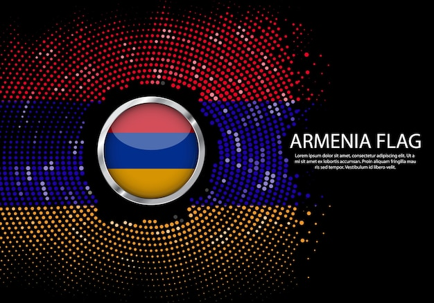 Szablon gradient w tle półtonów lub led neon light na okrągłym stylu kropek w armenii