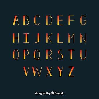 Szablon gradientu typografii
