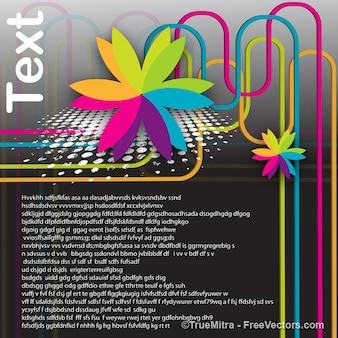 Szablon graficzny kwiatowy tło elementu