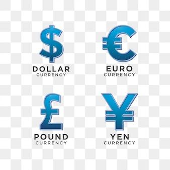 Szablon graficzny znak waluty